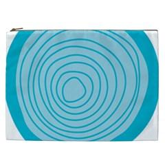 Mustard Logo Hole Circle Linr Blue Cosmetic Bag (xxl)  by Alisyart