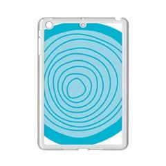Mustard Logo Hole Circle Linr Blue Ipad Mini 2 Enamel Coated Cases by Alisyart