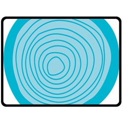 Mustard Logo Hole Circle Linr Blue Double Sided Fleece Blanket (large)  by Alisyart