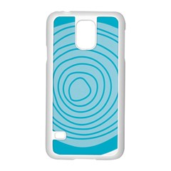 Mustard Logo Hole Circle Linr Blue Samsung Galaxy S5 Case (white) by Alisyart