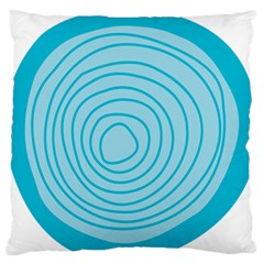 Mustard Logo Hole Circle Linr Blue Large Flano Cushion Case (one Side) by Alisyart