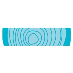 Mustard Logo Hole Circle Linr Blue Satin Scarf (oblong) by Alisyart