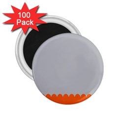 Orange Gray Scallop Wallpaper Wave 2 25  Magnets (100 Pack)  by Alisyart