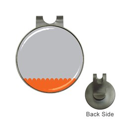 Orange Gray Scallop Wallpaper Wave Hat Clips With Golf Markers by Alisyart