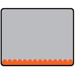 Orange Gray Scallop Wallpaper Wave Fleece Blanket (medium)  by Alisyart