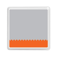 Orange Gray Scallop Wallpaper Wave Memory Card Reader (square)  by Alisyart