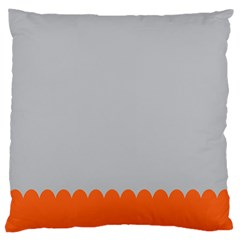Orange Gray Scallop Wallpaper Wave Large Cushion Case (two Sides) by Alisyart
