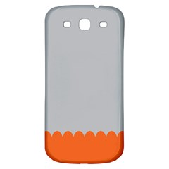 Orange Gray Scallop Wallpaper Wave Samsung Galaxy S3 S Iii Classic Hardshell Back Case by Alisyart