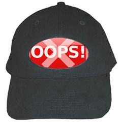 Oops Stop Sign Icon Black Cap by Alisyart
