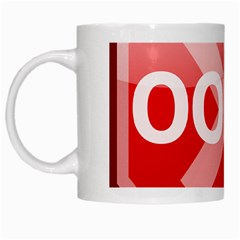 Oops Stop Sign Icon White Mugs by Alisyart