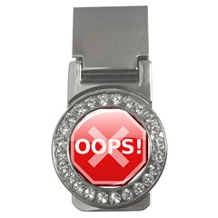 Oops Stop Sign Icon Money Clips (cz)