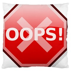 Oops Stop Sign Icon Large Cushion Case (one Side) by Alisyart
