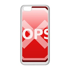 Oops Stop Sign Icon Apple Iphone 5c Seamless Case (white) by Alisyart