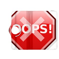 Oops Stop Sign Icon Kindle Fire Hdx 8 9  Flip 360 Case by Alisyart