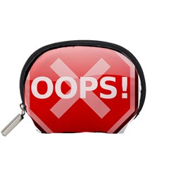 Oops Stop Sign Icon Accessory Pouches (small)  by Alisyart
