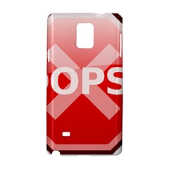 Oops Stop Sign Icon Samsung Galaxy Note 4 Hardshell Case by Alisyart