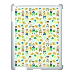 Kids Football Sport Ball Star Apple Ipad 3/4 Case (white) by Alisyart