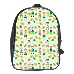 Kids Football Sport Ball Star School Bags (xl)  by Alisyart