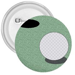 Golf Image Ball Hole Black Green 3  Buttons by Alisyart