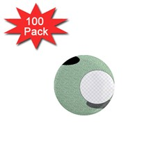 Golf Image Ball Hole Black Green 1  Mini Magnets (100 Pack)  by Alisyart