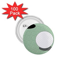 Golf Image Ball Hole Black Green 1 75  Buttons (100 Pack)  by Alisyart