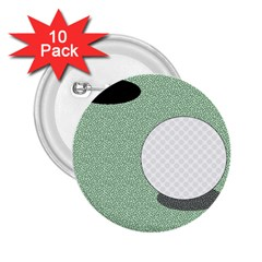 Golf Image Ball Hole Black Green 2 25  Buttons (10 Pack)  by Alisyart
