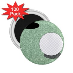 Golf Image Ball Hole Black Green 2 25  Magnets (100 Pack)  by Alisyart