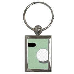 Golf Image Ball Hole Black Green Key Chains (rectangle)  by Alisyart