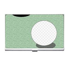 Golf Image Ball Hole Black Green Business Card Holders by Alisyart