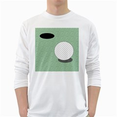 Golf Image Ball Hole Black Green White Long Sleeve T Shirts by Alisyart
