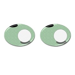 Golf Image Ball Hole Black Green Cufflinks (oval) by Alisyart