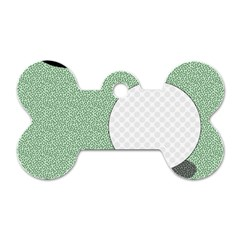 Golf Image Ball Hole Black Green Dog Tag Bone (two Sides) by Alisyart