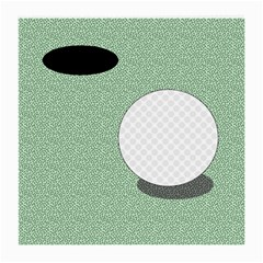 Golf Image Ball Hole Black Green Medium Glasses Cloth (2 Side) by Alisyart