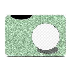 Golf Image Ball Hole Black Green Plate Mats by Alisyart