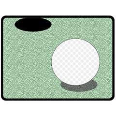 Golf Image Ball Hole Black Green Fleece Blanket (large)  by Alisyart
