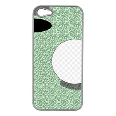 Golf Image Ball Hole Black Green Apple Iphone 5 Case (silver) by Alisyart