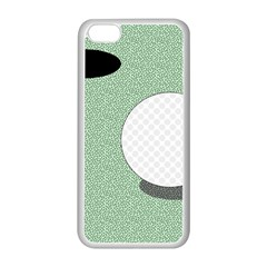 Golf Image Ball Hole Black Green Apple Iphone 5c Seamless Case (white) by Alisyart