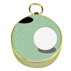 Golf Image Ball Hole Black Green Gold Compasses by Alisyart