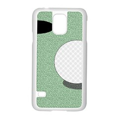 Golf Image Ball Hole Black Green Samsung Galaxy S5 Case (white) by Alisyart