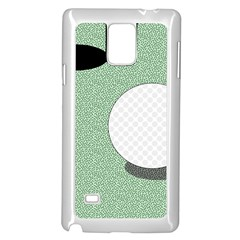 Golf Image Ball Hole Black Green Samsung Galaxy Note 4 Case (white) by Alisyart