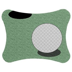 Golf Image Ball Hole Black Green Jigsaw Puzzle Photo Stand (bow) by Alisyart