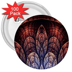 Abstract Fractal 3  Buttons (100 pack)  by Simbadda