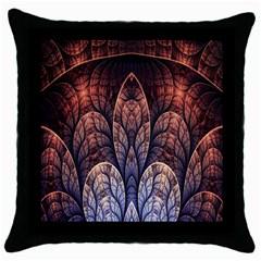 Abstract Fractal Throw Pillow Case (black) by Simbadda