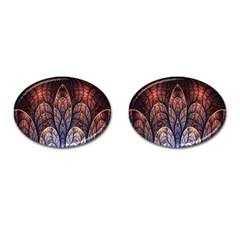 Abstract Fractal Cufflinks (oval) by Simbadda