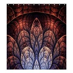Abstract Fractal Shower Curtain 66  X 72  (large)  by Simbadda