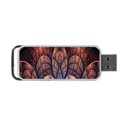 Abstract Fractal Portable Usb Flash (two Sides) by Simbadda
