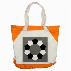 Pentagons Decagram Plain Black Gray White Triangle Accent Tote Bag by Alisyart
