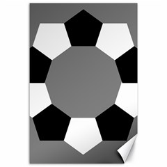Pentagons Decagram Plain Black Gray White Triangle Canvas 24  X 36  by Alisyart