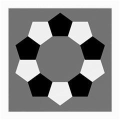 Pentagons Decagram Plain Black Gray White Triangle Medium Glasses Cloth (2 Side) by Alisyart