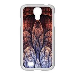 Abstract Fractal Samsung Galaxy S4 I9500/ I9505 Case (white) by Simbadda